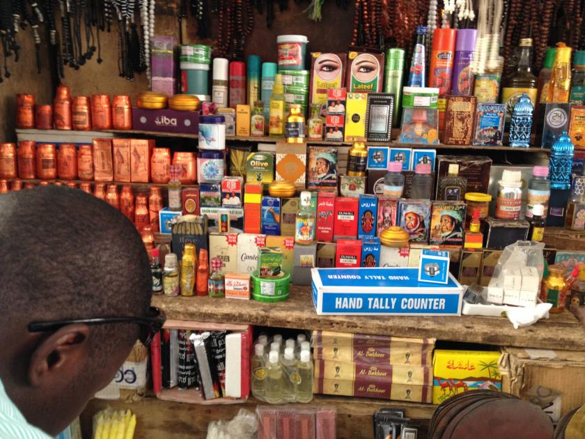 products in a store in Senegal