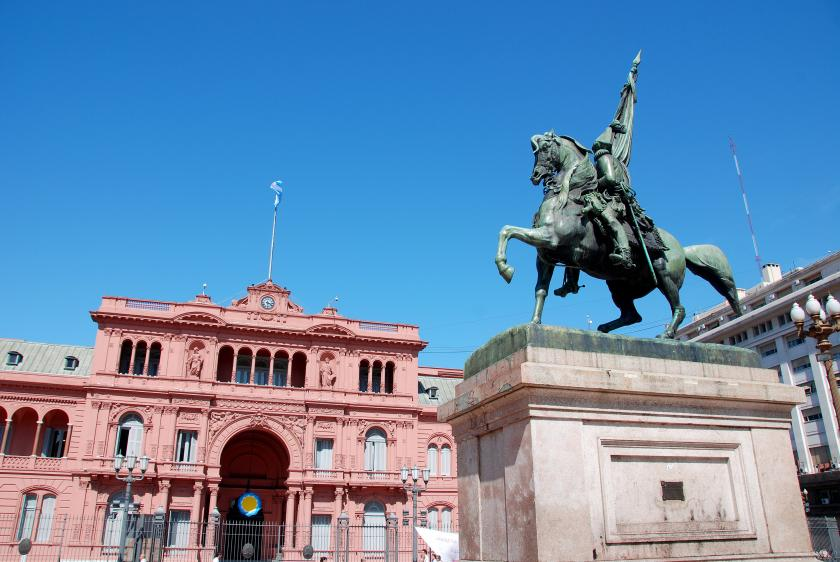 General Belgrano monument in front of Casa Rosada