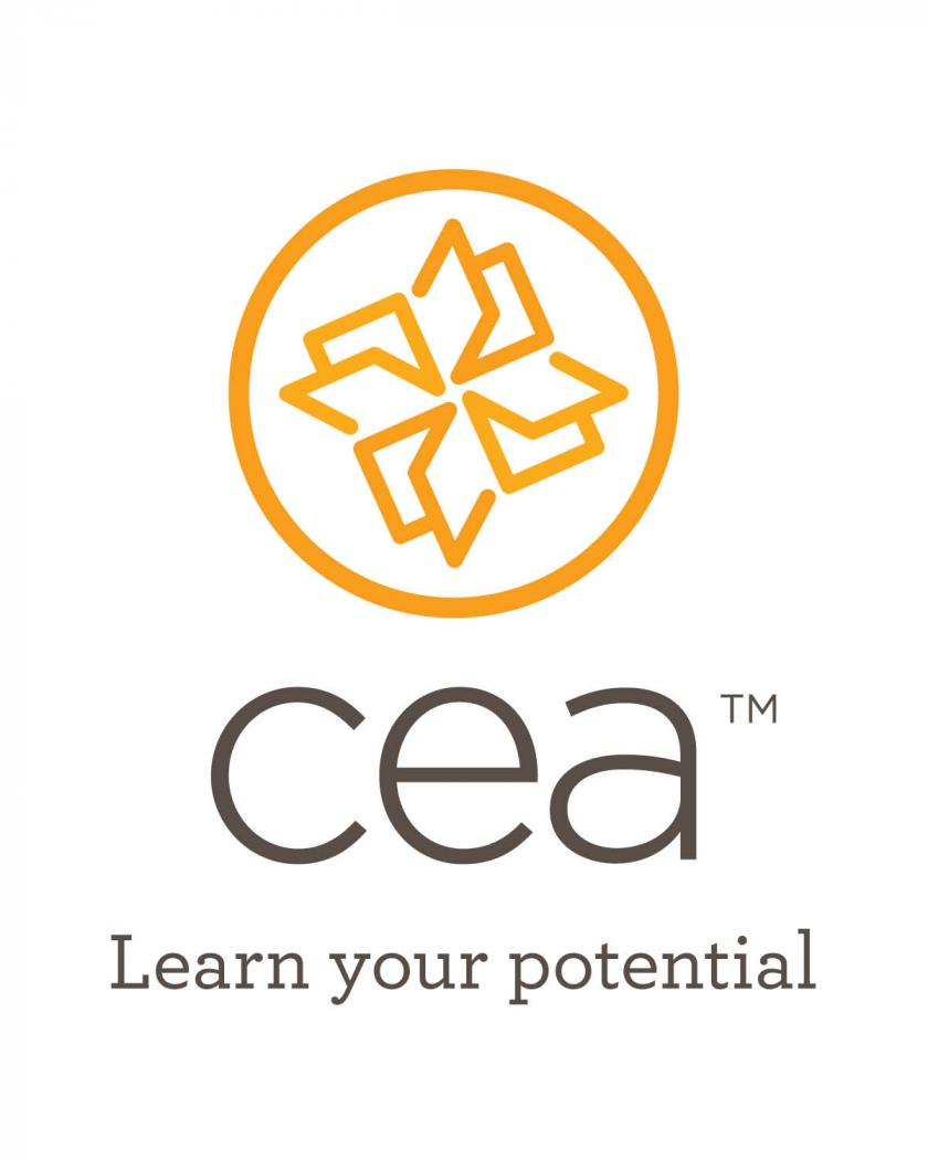 "CEA logo and ""Learn your potential"""