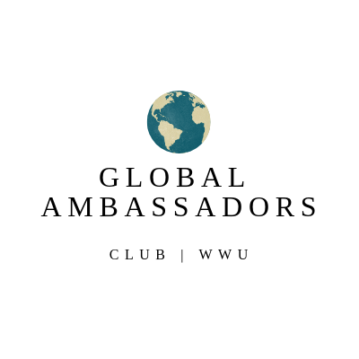 "Image of a globe above the text, ""Global Ambassadors Club 